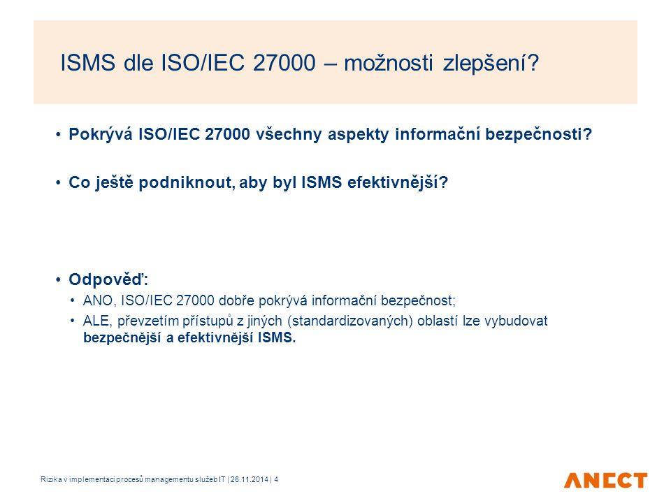 ISMS dle ISO/IEC 27000 – možnosti zlepšení