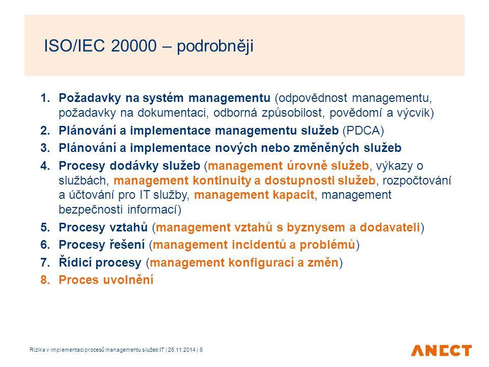 ISO/IEC 20000 – podrobněji