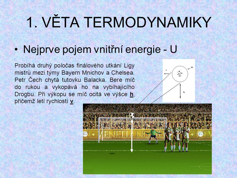 1. VĚTA TERMODYNAMIKY Nejprve pojem vnitřní energie - U