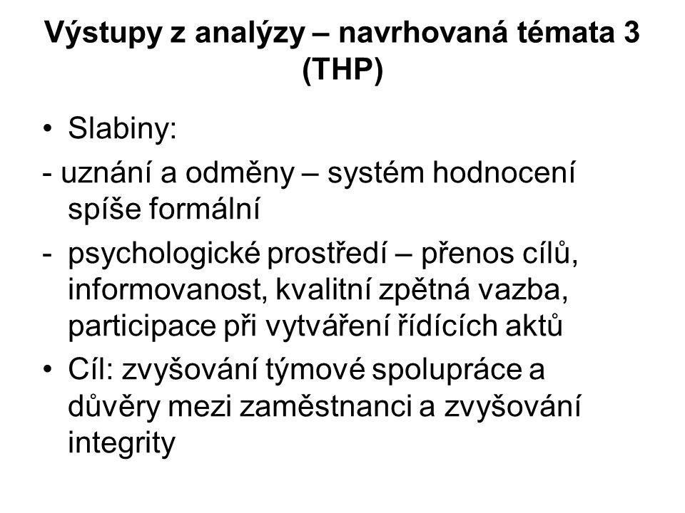 Výstupy z analýzy – navrhovaná témata 3 (THP)