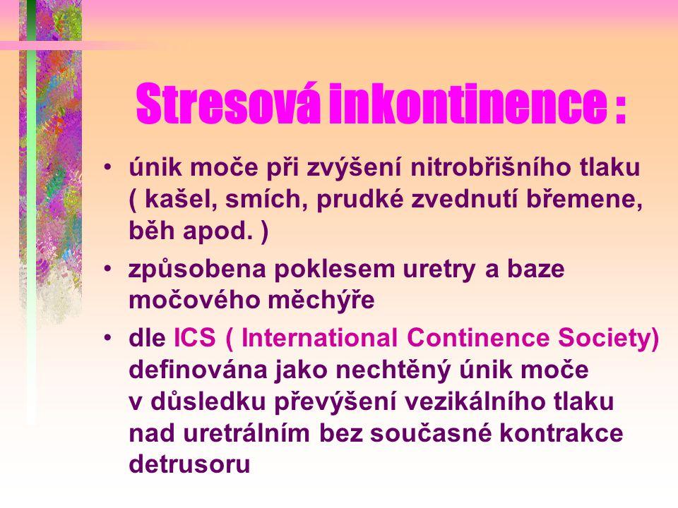 Stresová inkontinence :