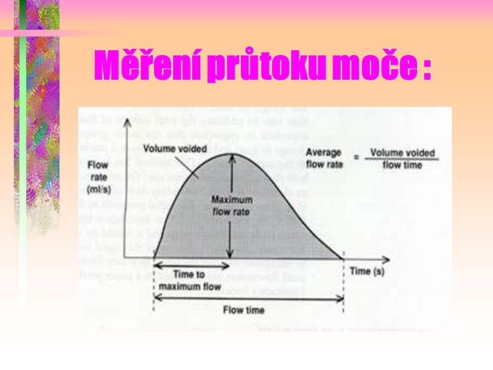 Měření průtoku moče :