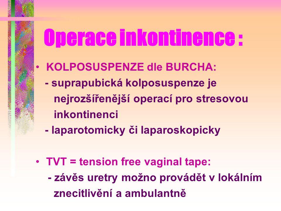 Operace inkontinence :