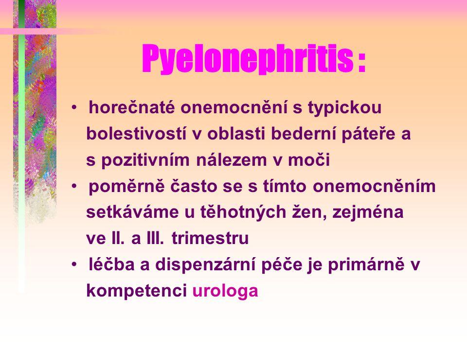 Pyelonephritis : horečnaté onemocnění s typickou