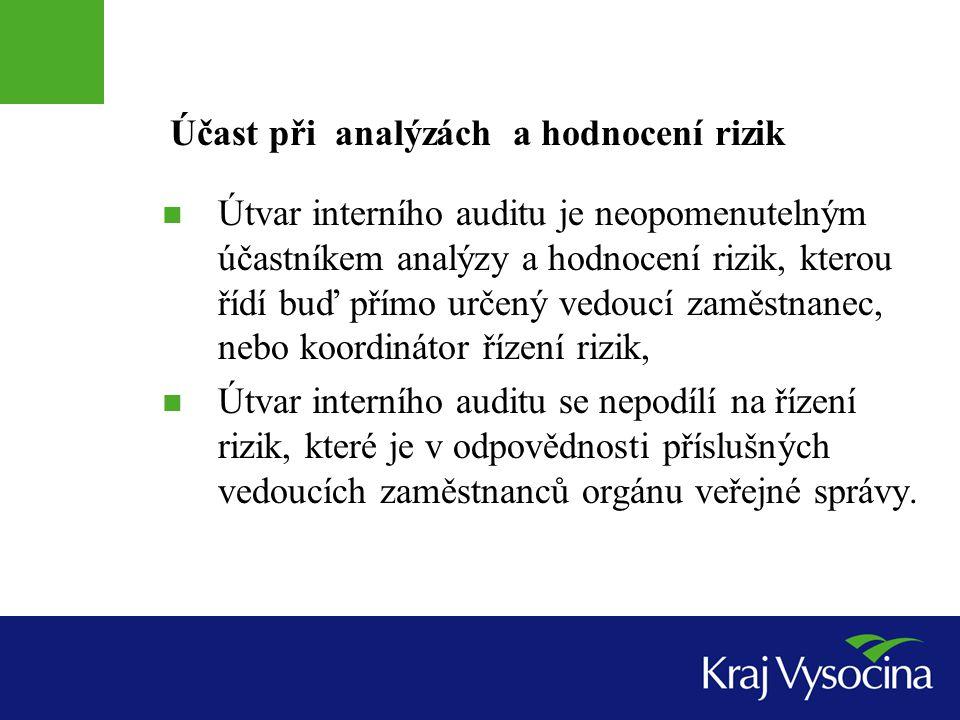 Účast při analýzách a hodnocení rizik
