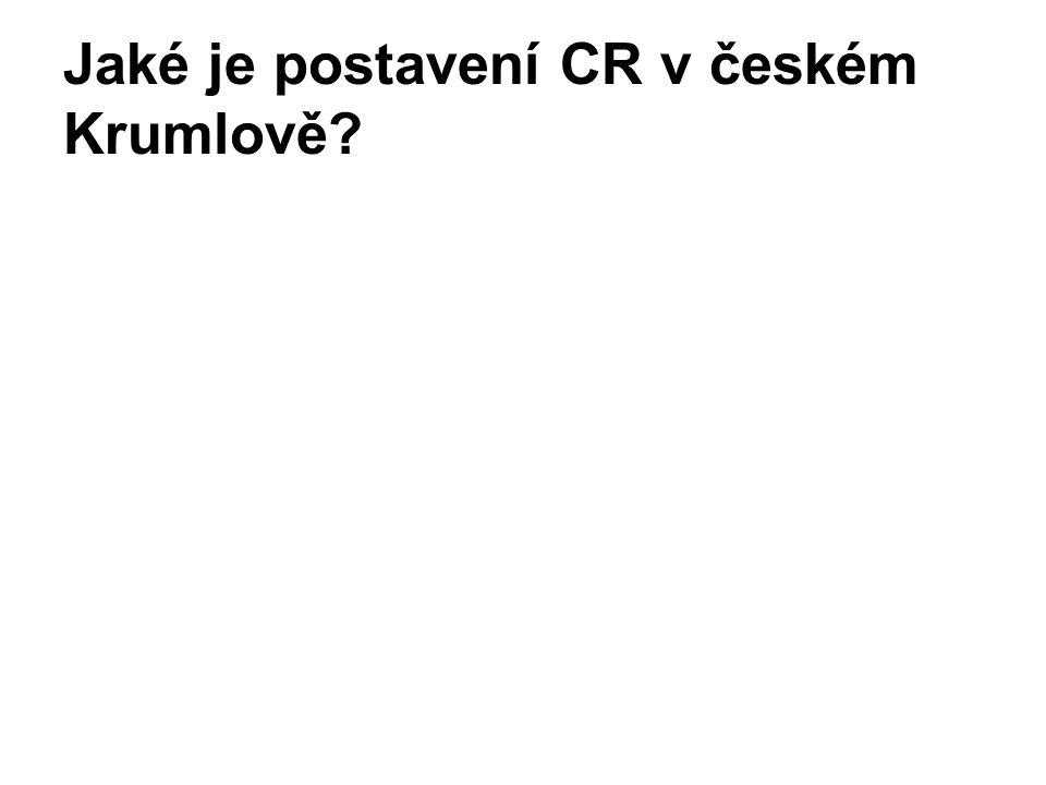 Jaké je postavení CR v českém Krumlově