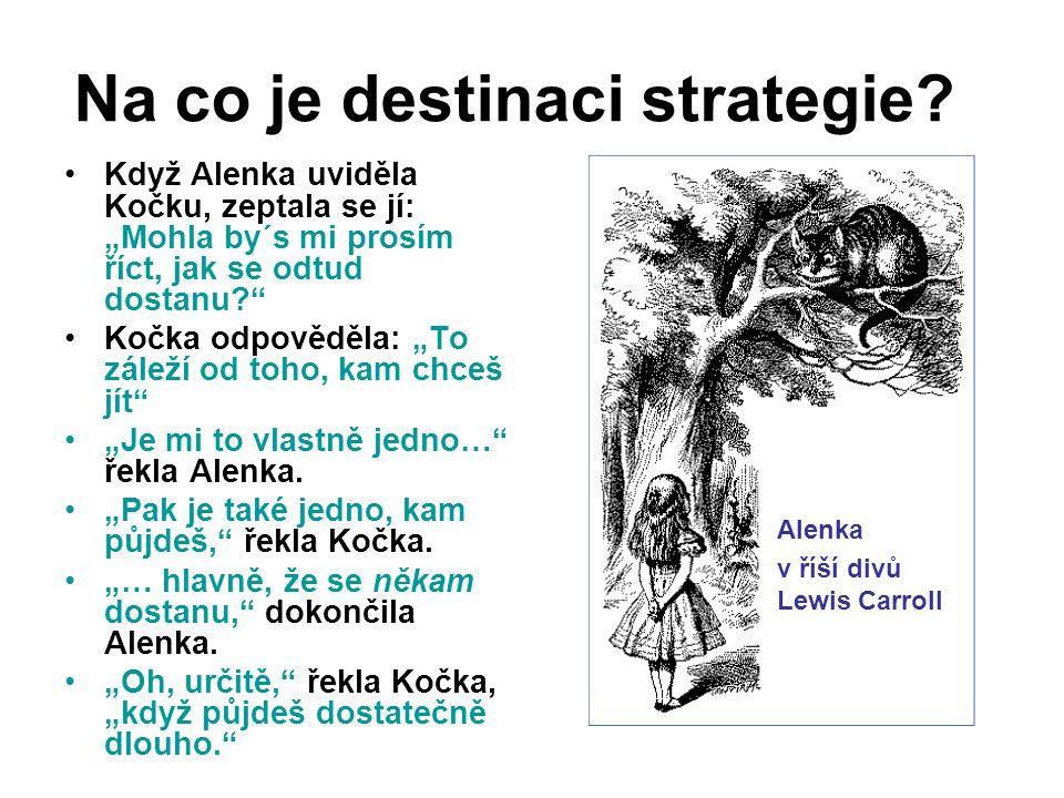 Na co je destinaci strategie