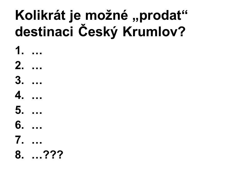 """Kolikrát je možné """"prodat destinaci Český Krumlov"""