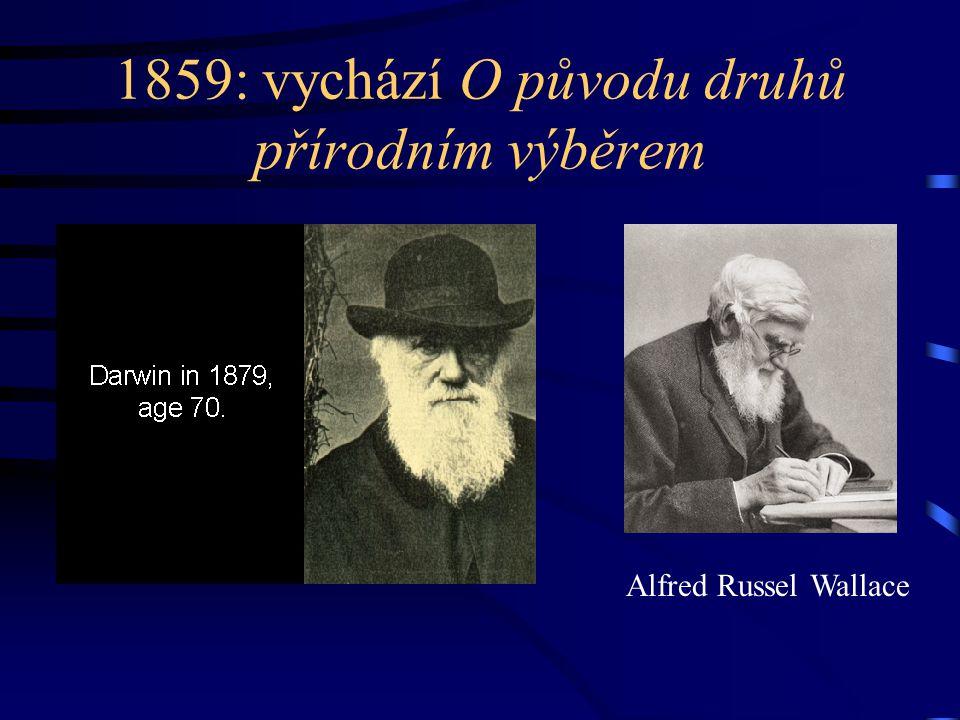 1859: vychází O původu druhů přírodním výběrem