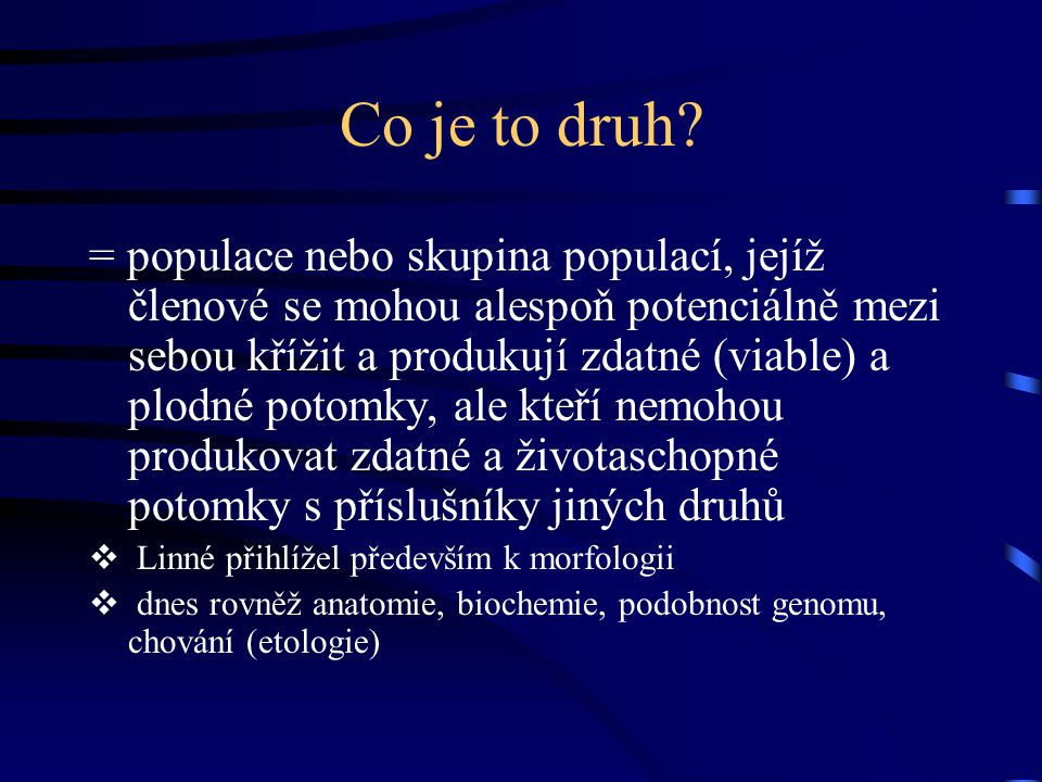 Co je to druh