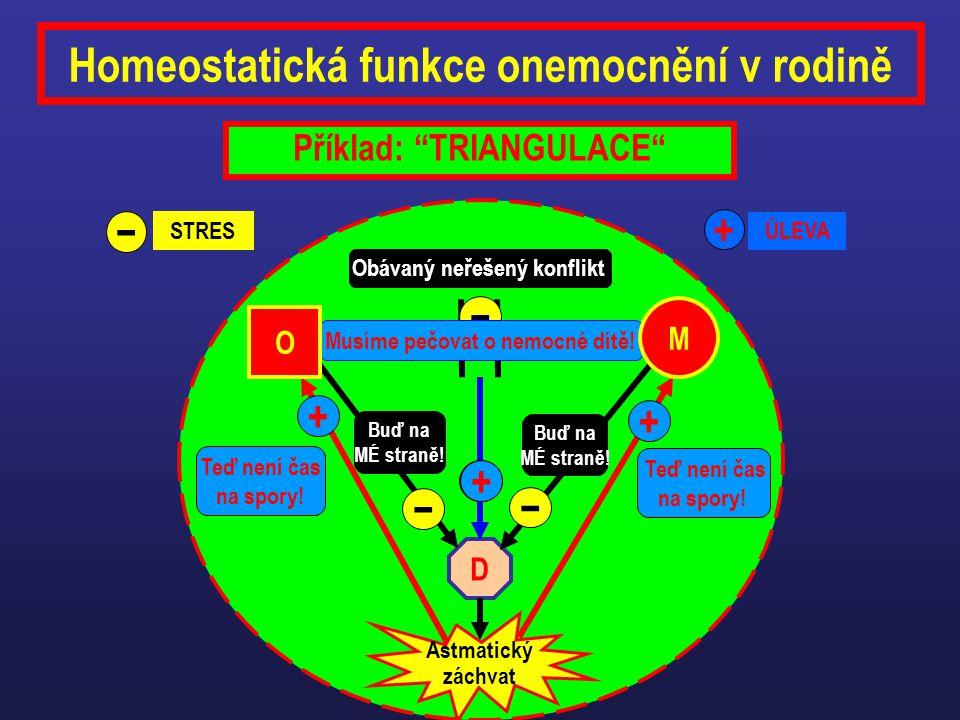 Homeostatická funkce onemocnění v rodině