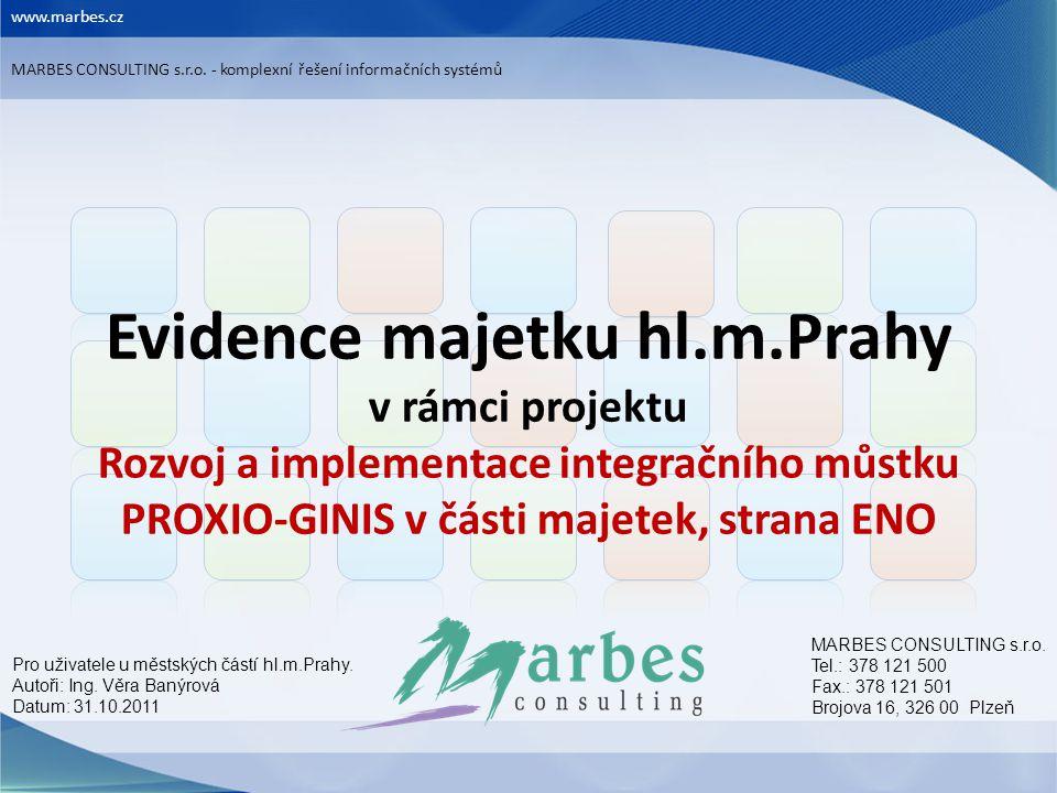www.marbes.cz MARBES CONSULTING s.r.o. - komplexní řešení informačních systémů.