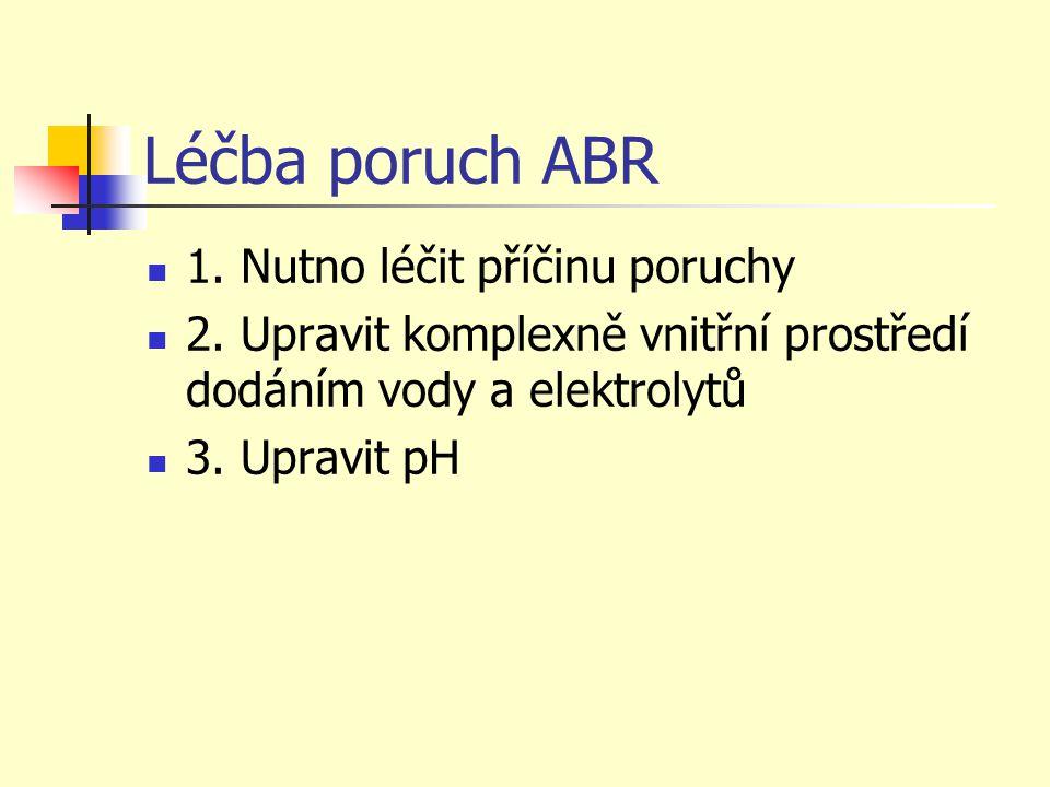 Léčba poruch ABR 1. Nutno léčit příčinu poruchy