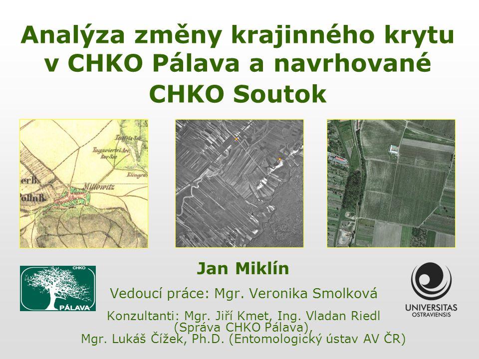 Analýza změny krajinného krytu v CHKO Pálava a navrhované CHKO Soutok