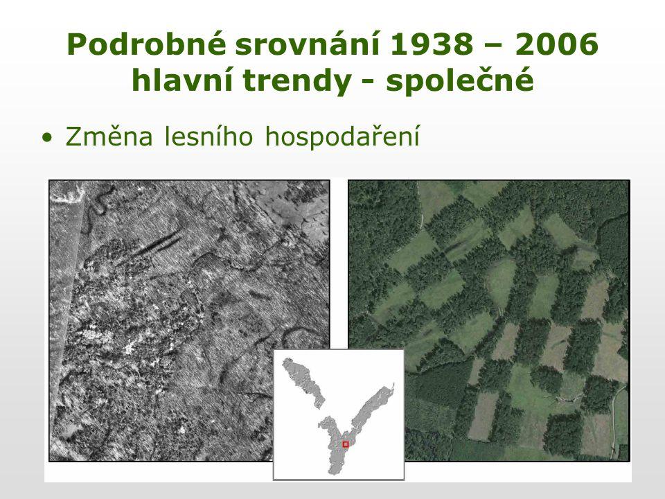 Podrobné srovnání 1938 – 2006 hlavní trendy - společné