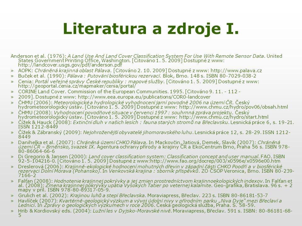 Literatura a zdroje I.