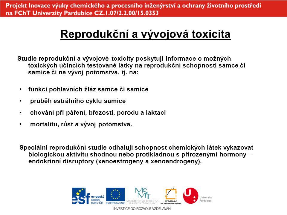 Reprodukční a vývojová toxicita