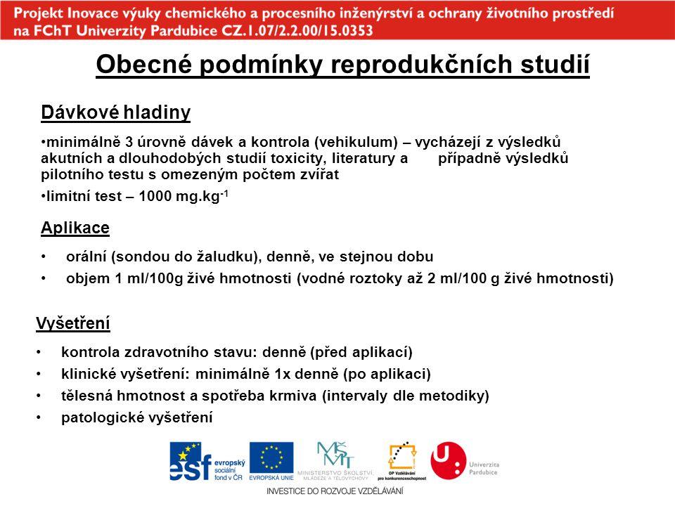 Obecné podmínky reprodukčních studií