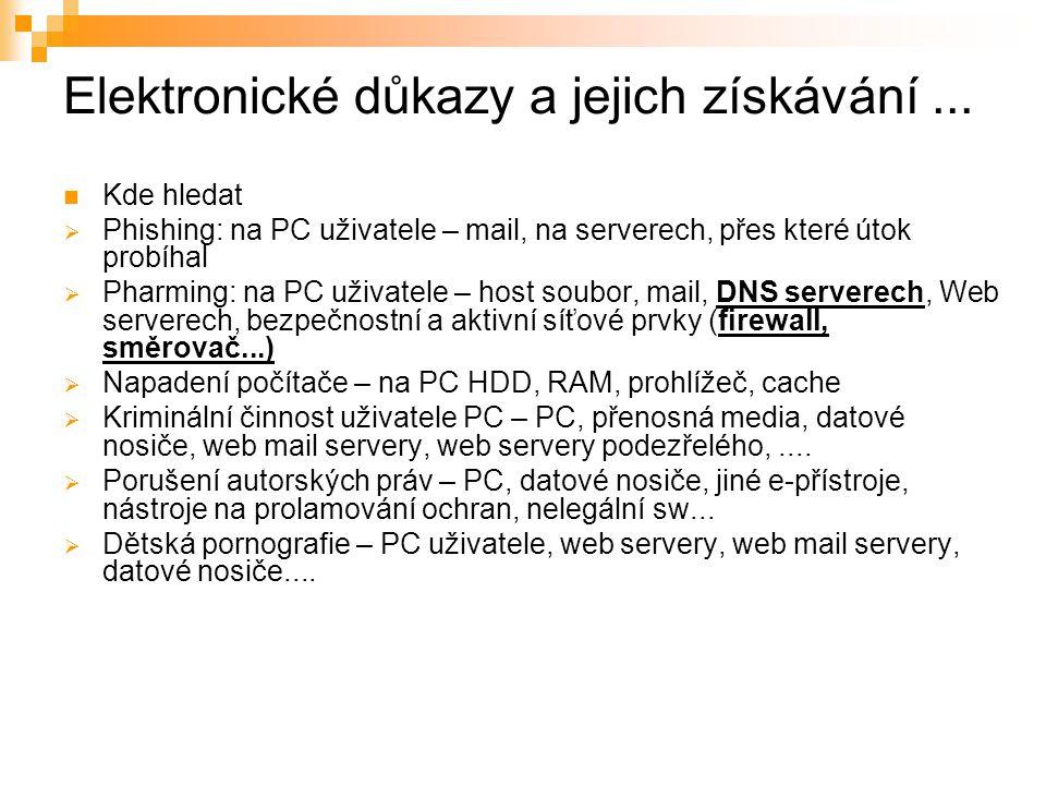 Elektronické důkazy a jejich získávání ...
