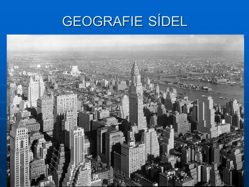 GEOGRAFIE SÍDEL