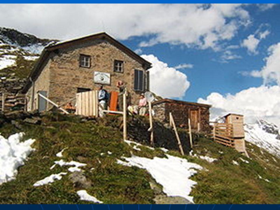 Alte Prager Hutte v rakouských Alpách
