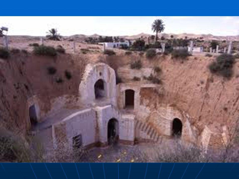 Obydlí tvoří 5-12 m hluboká šachta kruhového tvaru, do jejíhož dna vedou vchody do jednotlivých navzájem nepropojených místností.