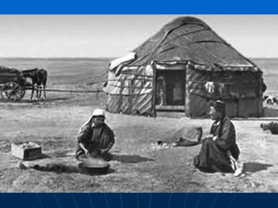 Kibitka. Sídelní jednotka kočovných mongolských a turmenských kmenů.