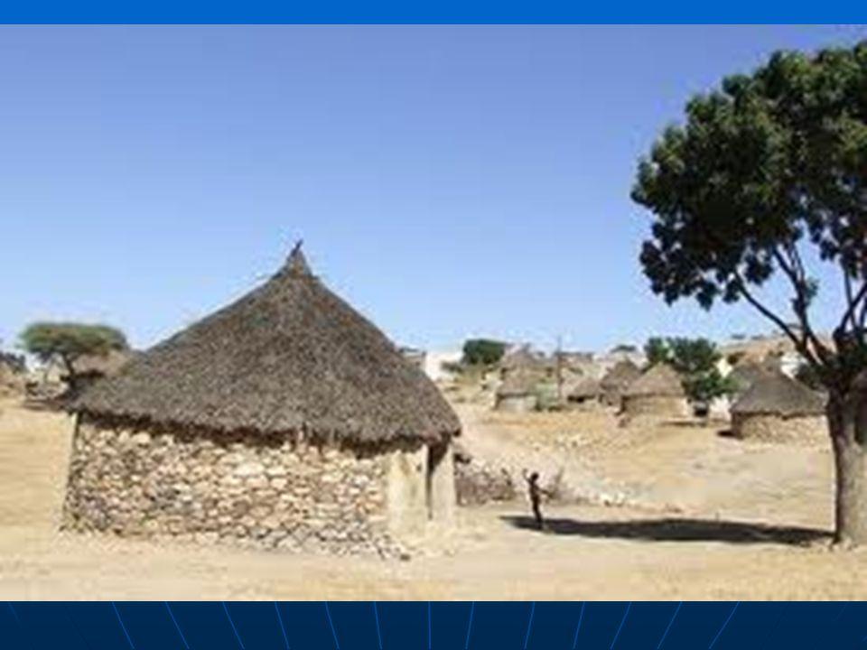Vesnické sídlo v Eritrei