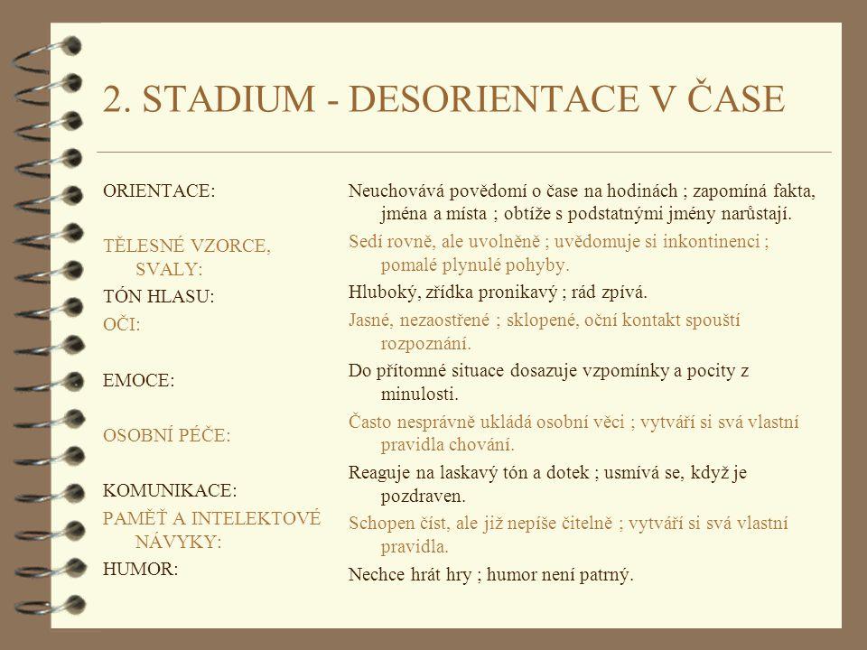 2. STADIUM - DESORIENTACE V ČASE