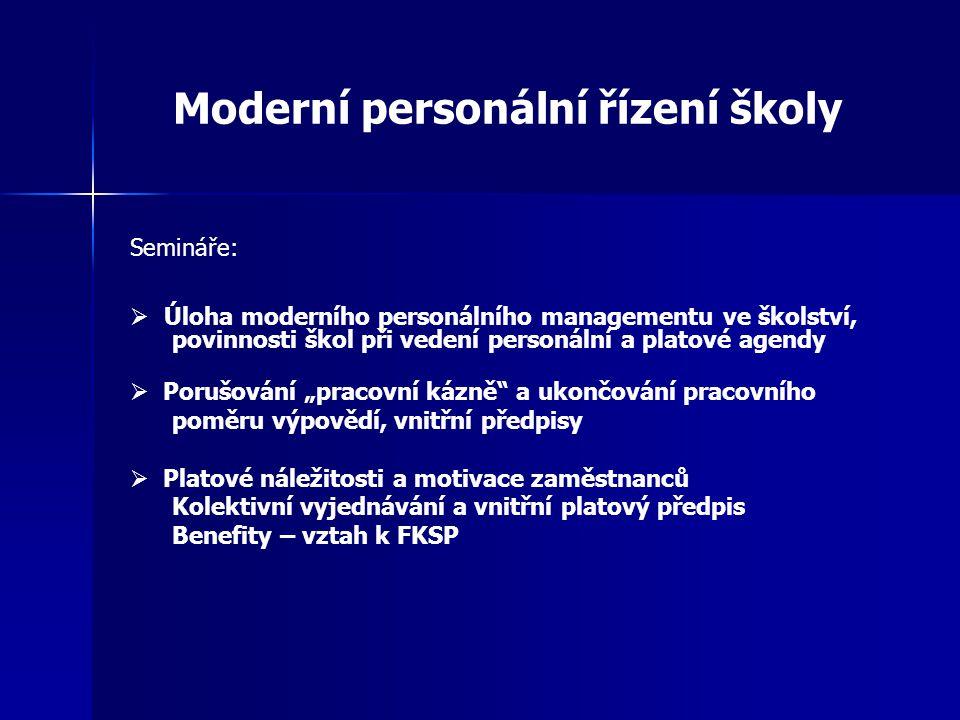 Moderní personální řízení školy