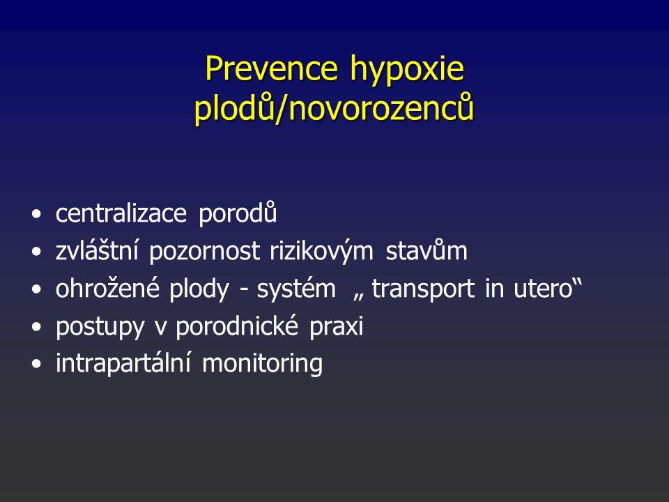 Prevence hypoxie plodů/novorozenců