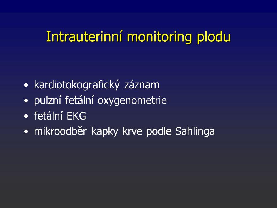 Intrauterinní monitoring plodu