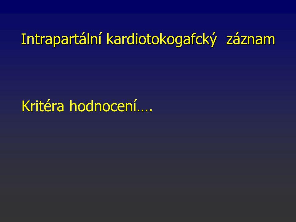 Intrapartální kardiotokogafcký záznam