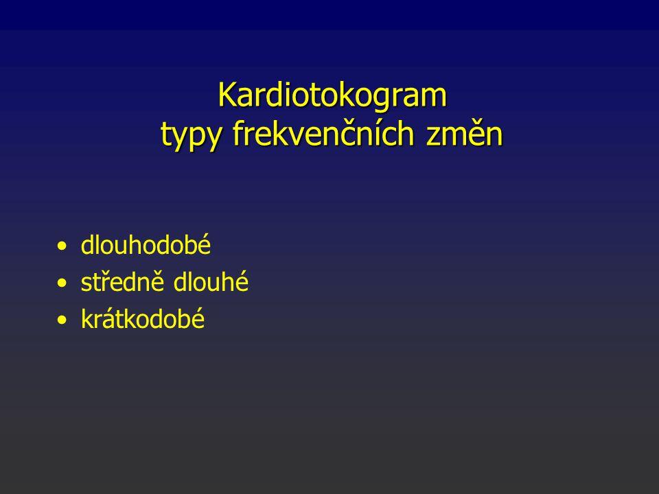 Kardiotokogram typy frekvenčních změn