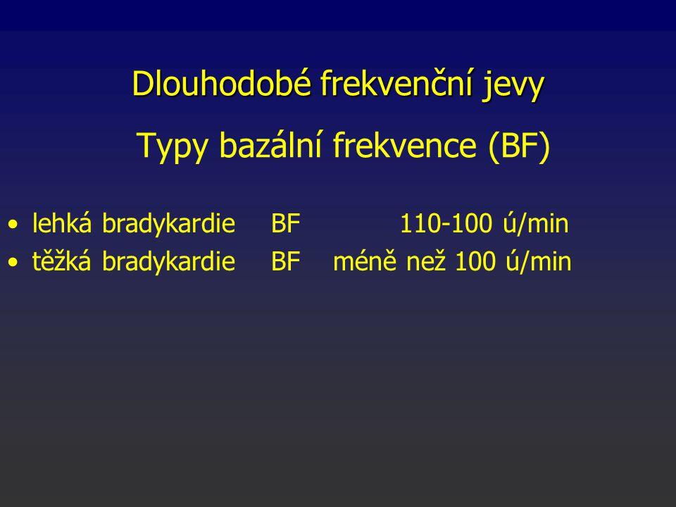 Typy bazální frekvence (BF)