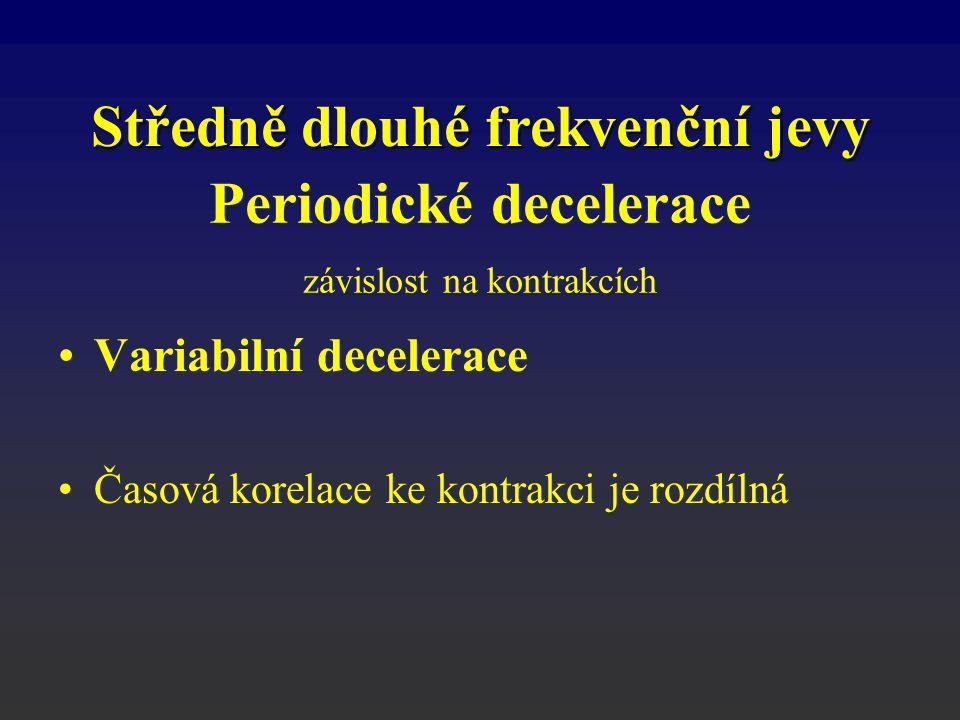 Periodické decelerace závislost na kontrakcích