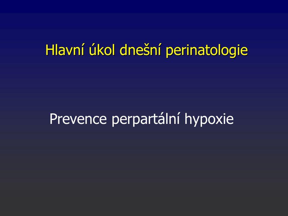 Hlavní úkol dnešní perinatologie