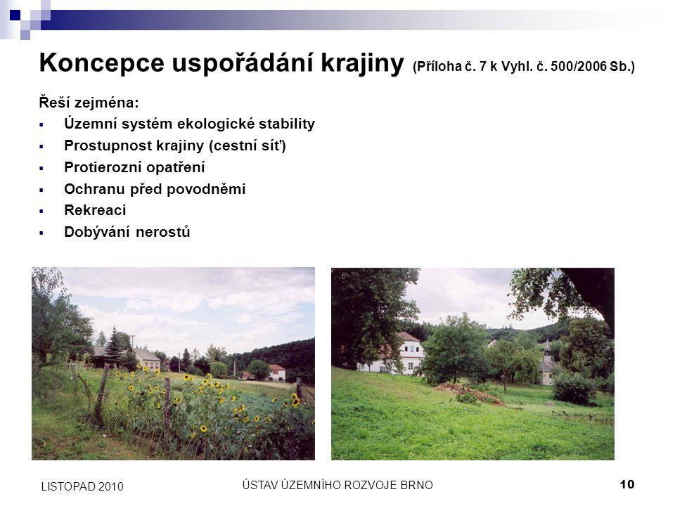 Koncepce uspořádání krajiny (Příloha č. 7 k Vyhl. č. 500/2006 Sb.)