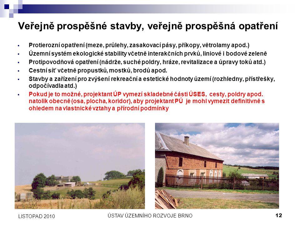 Veřejně prospěšné stavby, veřejně prospěšná opatření