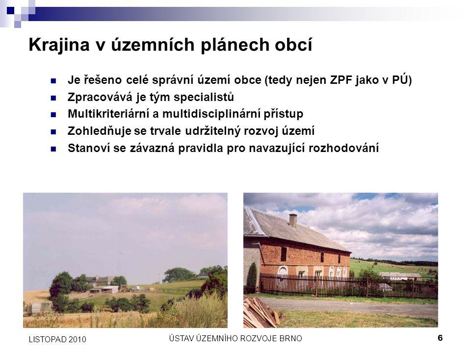 Krajina v územních plánech obcí