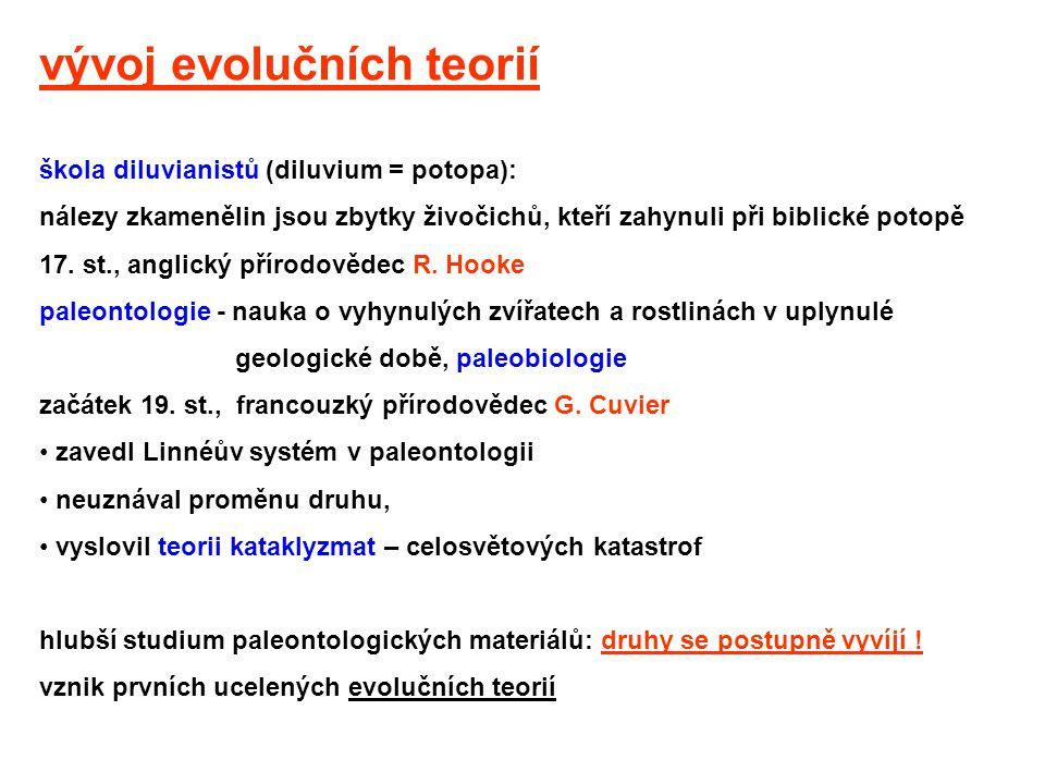 vývoj evolučních teorií