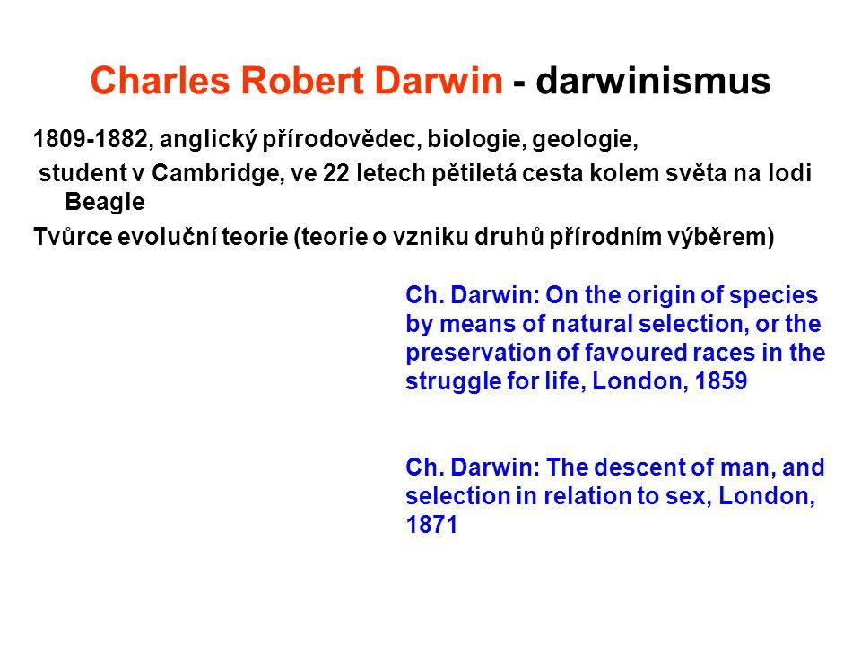 Charles Robert Darwin - darwinismus