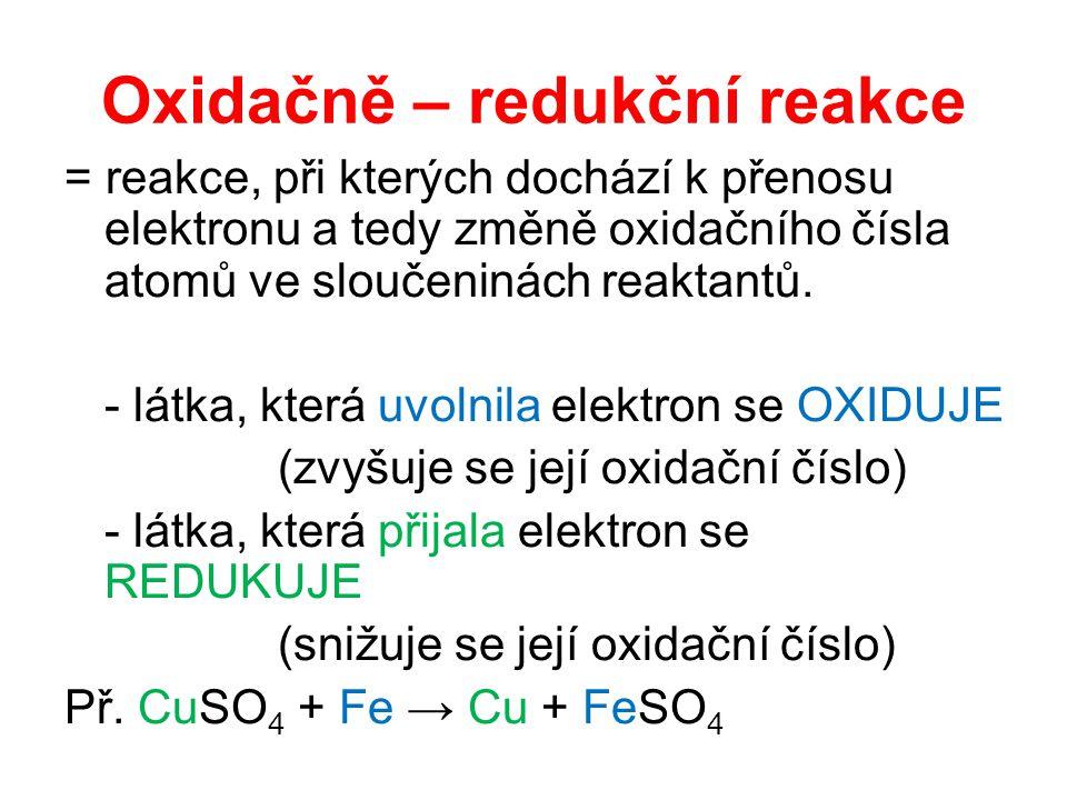 Oxidačně – redukční reakce