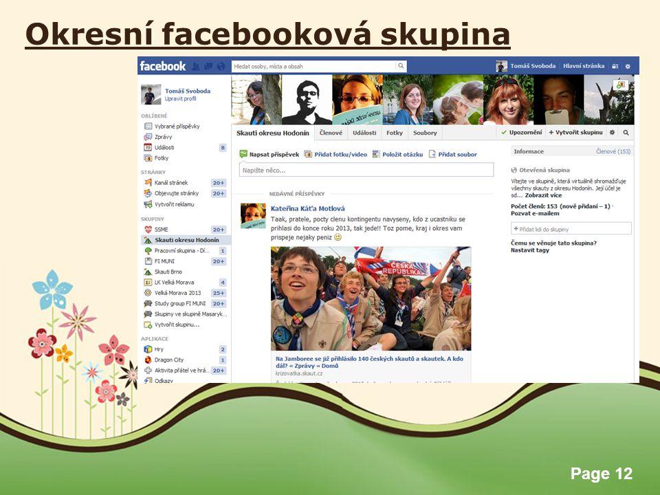 Okresní facebooková skupina