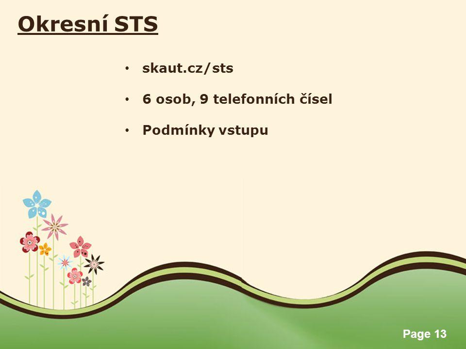 Okresní STS skaut.cz/sts 6 osob, 9 telefonních čísel Podmínky vstupu