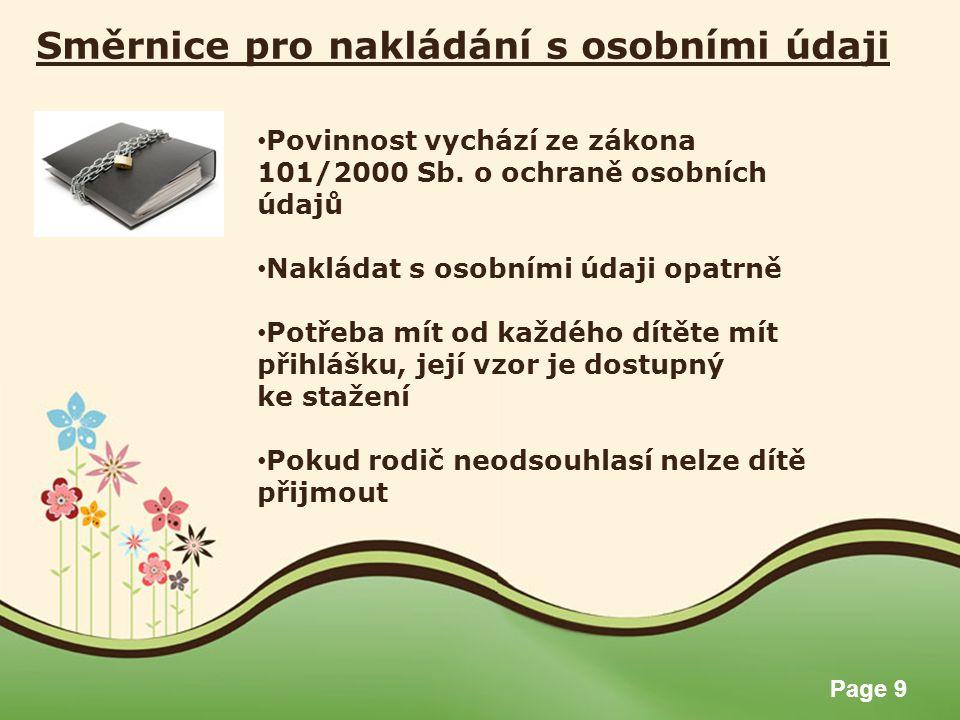Směrnice pro nakládání s osobními údaji