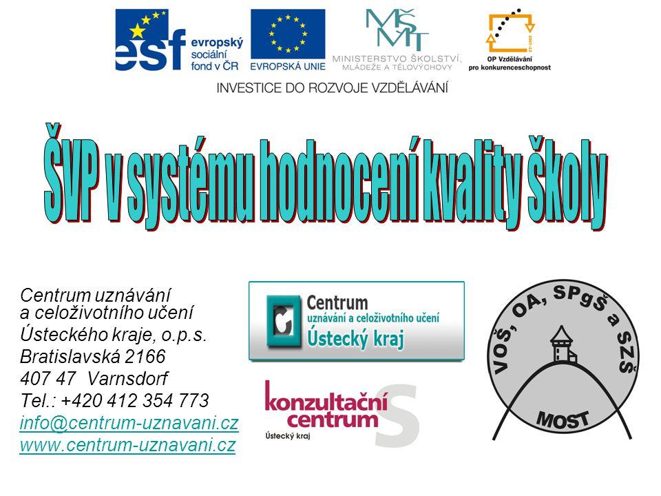ŠVP v systému hodnocení kvality školy