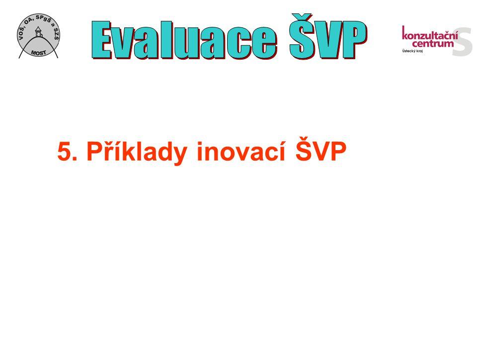 Evaluace ŠVP 5. Příklady inovací ŠVP
