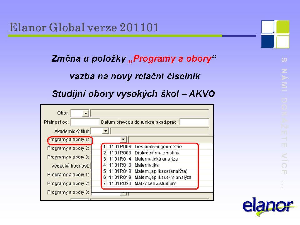 """Elanor Global verze 201101 Změna u položky """"Programy a obory"""