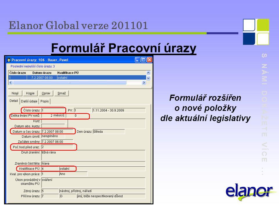 Formulář Pracovní úrazy dle aktuální legislativy